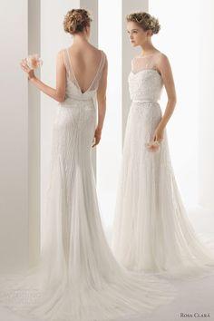 soft by rosa clara 2014 ugo beaded sleeveless wedding dress