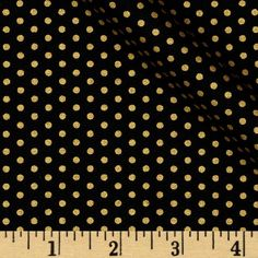 Spot On Metallic Pindot Jet from @fabricdotcom  Designed by Studio RK for Robert Kaufman, this polka dot cotton print fabric is perfect for quilting, apparel, crafts, and home decor items. Features gold metallic dots printed throughout.