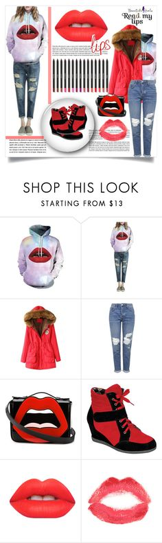 """beautifulhalo#80"" by e-mina-87 ❤ liked on Polyvore featuring Topshop, Yazbukey, Reneeze, Lime Crime and bhalo"