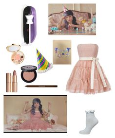 """""""Melanie martinez - pity party"""" by littlemissmonster13 ❤ liked on Polyvore featuring RED Valentino, Dorothy Perkins, Charlotte Tilbury, tarte, shu uemura and Too Faced Cosmetics"""