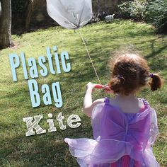 Plastic bag kite - make after reading Curious George and the Kite from www.curiousgeorge.com