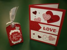 2 projects that I cased from swaps at Leadership in Houston  #Valentines Day, #hearts, #Stampin Up