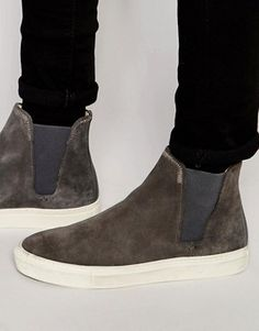 Hudson London Suede Chelsea Trainers
