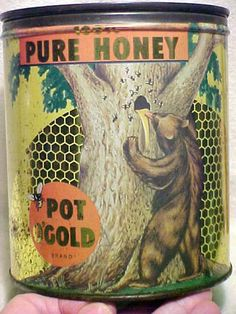Vintage Pot O'Gold Pure Honey Can ♥♥