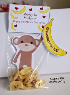 Candy-free valentine: I'm bananas for you