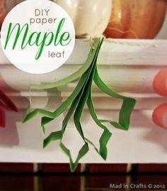 DIY paper maple leaf