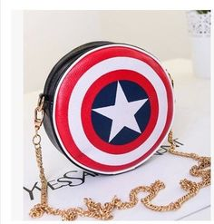 Captain America Round Shield Purse