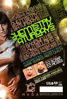"NAGA NIGHT CLUB presents GREATER BOSTON'S HOTTEST INTERNATIONAL SATURDAYS:   Chemistry Saturdays at NAGA NIGHT CLUB  ""Where sexiness meets quality""   Naga Night Club   450 Massachusetts Ave.   Cambridge, MA 02139     Tables/Info - Bottle Specials available, contact jason@nagacambridge.com or 857 991 7164     Website: nagacambridge.com   Like us on Facebook: Naga   Follow us on Twitter: nagacambridge"