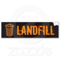 Landfill Garbage Trash Can Label