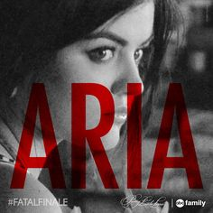 SHARE this photo if you think Aria will die on Tuesday's #PLL #FatalFinale! Find out Tuesday at 8/7c on ABC Family!