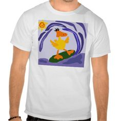 Funny Yellow Duck Surfer Dude Tshirt #ducks #surfing #shirts #funny #beach And www.zazzle.com/tickleyourfunnybone*