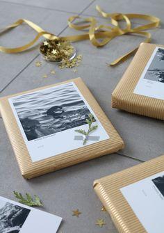 DIY Geschenke mit Polaroids verpacken | Schwarz Weiß Fotos | HP Deskjet 3730