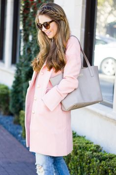 Pink Coat & Side Braid