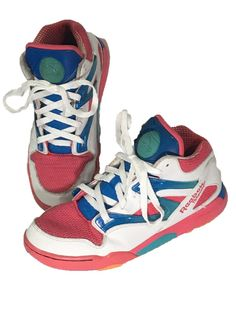 Reebok The Pump Basketball Sneakers Shoes Omni Lite Pink Blue Womens 5.5  EUR 37 - Preowned ece065426