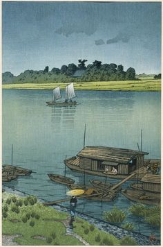 Early Summer Rain by Kawase Hasui (1930)