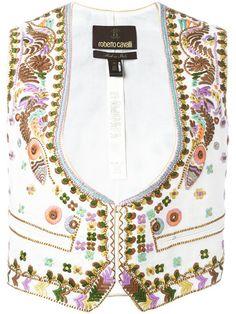 ROBERTO CAVALLI Embroidered Waistcoat. #robertocavalli #cloth #waistcoat
