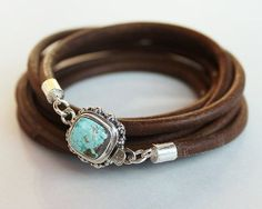 Turquoise silver bracelet  Seven Turquoise by ChickpeaDesignStudio, $98.00