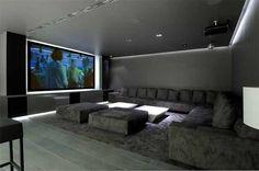 Home Cinema Interior Concrete House II by A cero Architects Interior Design Concrete House II by A cero Architects