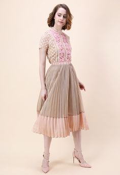 Glittering Trice Pleated Skirt - Bottoms - Retro, Indie and Unique Fashion