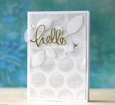Pearlescent Embossing Paste card by Laura Bassen,