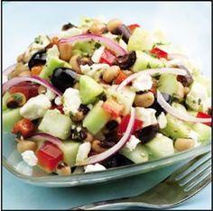 Cucumber & Black Eyed Pea Salad