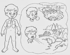 Aparato respiratorio para colorear - Imagui Health Activities, Activities For Kids, My Themes, Giza, Graphic Organizers, Classroom, Teaching, Education, Cos