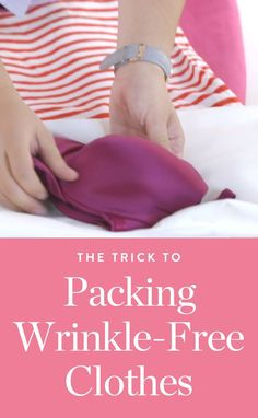 Want to know how to pack so your clothes come out wrinkle-free? Watch this easy hack here. #packing #packingtips #packinghacks #folding #howtopack