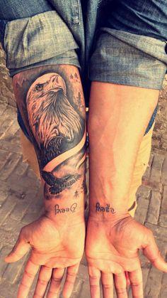 An eagle tattoo by Babbu Kaila
