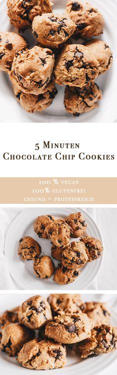 Vanillaholica | 5 Minuten vegane Chocolate Chip Kekse, glutenfrei und proteinreich | http://www.vanillaholica.com . Veganismus, vegan recipes, vegan lifestyle, animal rights, vegans, vegan food, vegan (Chocolate Chip)
