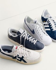 Combining classic designs with understated colorways, these leather sneakers  from