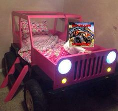 Jeep toddler bed pink: Jeep Bed, Ideas, Kids Bedrooms, 3/4