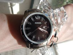 Fossil black bling #fossilwatch