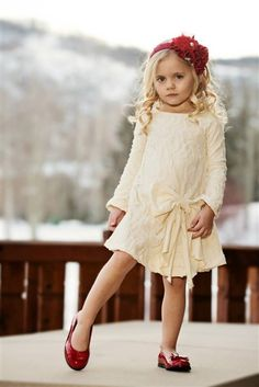 Persnickety Clothing - Lucille Dress in Cream Holiday 2013