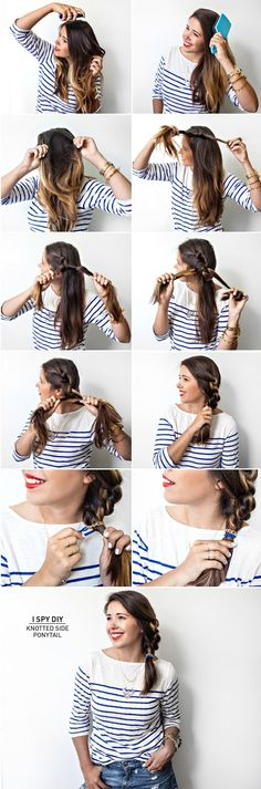 I Spy DIY: DIY HAIR | Knotted Side Ponytail