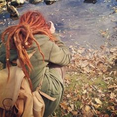 hippie nature peace red hair dreads roots red dreads