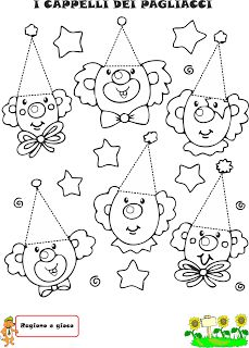 A Scuola con Poldo: Triangolino e il paese di Triangopoli Clown Crafts, Carnival Crafts, Coloring Sheets, Adult Coloring, Coloring Pages, Activities For Girls, Crafts For Kids, School Carnival, Clown Faces