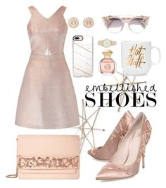 """Rose gold"" by jesselyn-low ❤ liked on Polyvore featuring Uttermost, RALPH & RUSSO, Miss Selfridge, Nam Cho, Casetify, Jimmy Choo, Tory Burch and Nine West"
