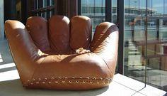 joe baseball glove chair .. #baby #boy #baseball #glove #chair