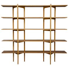 Primo 2/5 Ash with Stainless   From a unique collection of antique and modern bookcases at https://www.1stdibs.com/furniture/storage-case-pieces/bookcases/