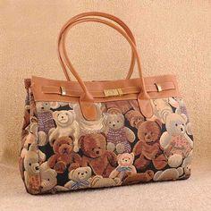 Eiko - women's fashion #brown #satchel handbags with teddy bear pattern design