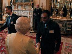 Another photo from when GS met the Queen. #Queen