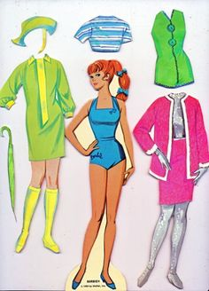Vintage 1969 Barbie Paper Dolls