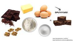 Fáciles & deliciosos Brownies de chocolate / Easy & delicious chocolate brownies