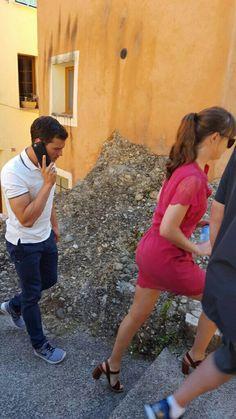 Jamie and Dakota on the FSF set in France (July 2016)
