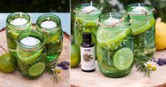 Chassez les moustiques avec du citron et des herbes fraîches, tout en décorant la table!