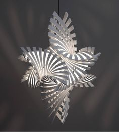 Complex Geometric Lamp Designs Produced with Printing by Artist Bathsheba Grossman - My Modern Metropolis Impression 3d, Geometric Lamp, Geometric Shapes, Modern Pendant Light, Pendant Lighting, Modern Lamps, Pendant Lamp, Diy Lampe, Licht Box
