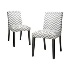 Uptown Dining Chair Grey & White Chevron - Set of 2 Quick Information