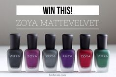 have you entered my @ZoyaNailPolish MatteVelvet collection #giveaway yet?