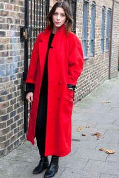 Lovely Long Winter Coats for Women : Red Long Winter Coat | Lovely ...