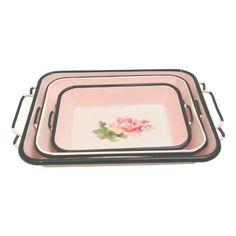 pink stacking trays